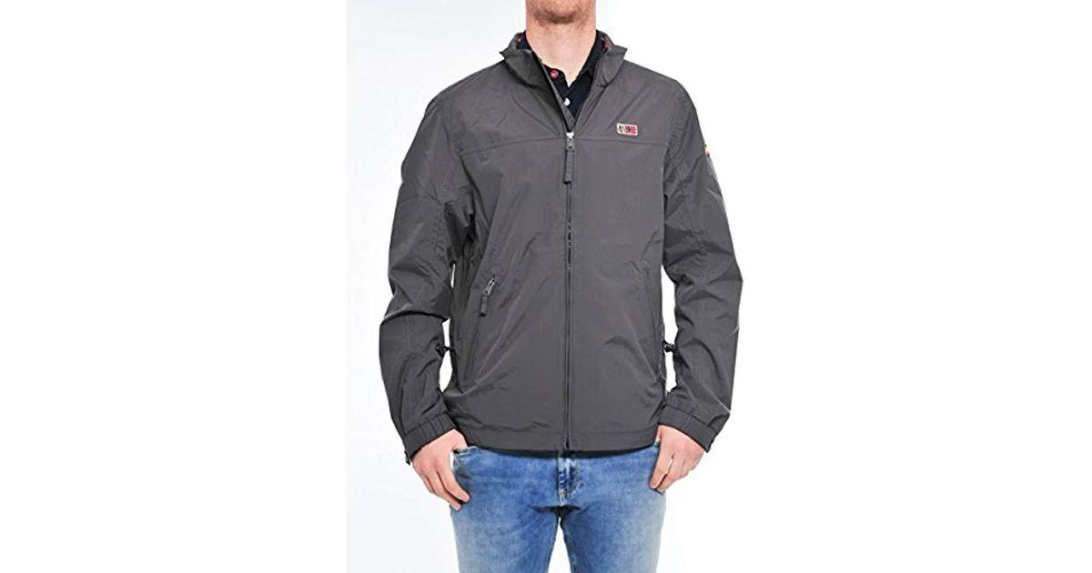 490658b45 Napapijri Gray Shelter Sum Jacket for men