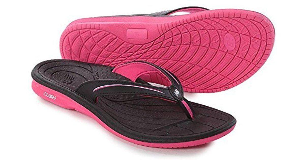 d1756596c738 Lyst - New Balance Cush Thong Sandal in Pink