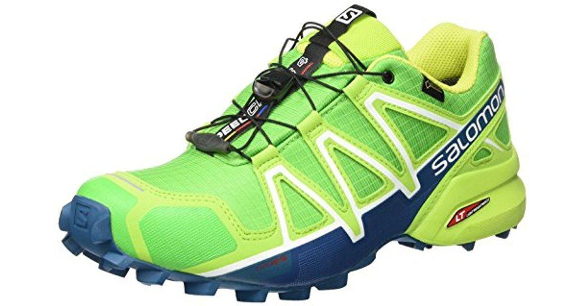 5c1223f5ba6f2 Yves Salomon Green Speedcross 4 Gtx Trail Running Shoes for men