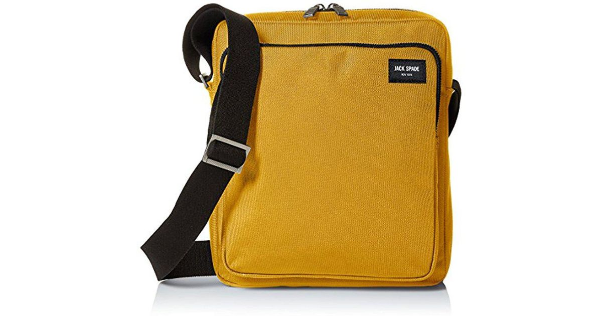 192050efd3bb Jack Spade Commuter Nylon Cargo Messenger in Yellow for Men - Lyst