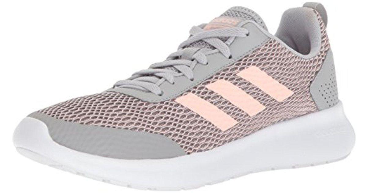 lyst adidas di elemento corsa w scarpa da corsa in grigio - 9%