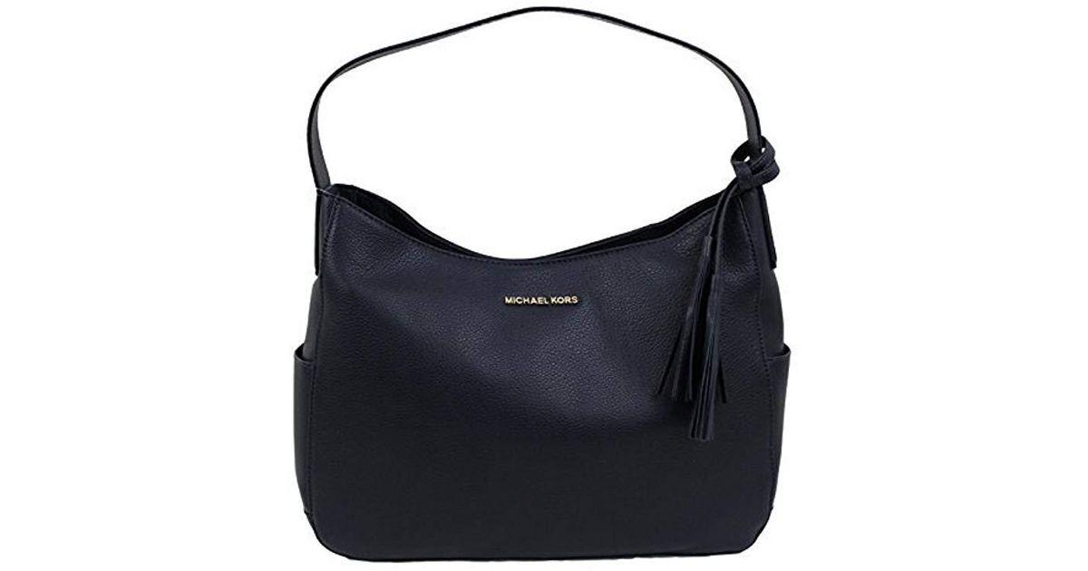 28a908a99ec5 Michael Kors Blue Ashbury Leather Large Slouchy Shoulder Bag Tote Purse  Handbag