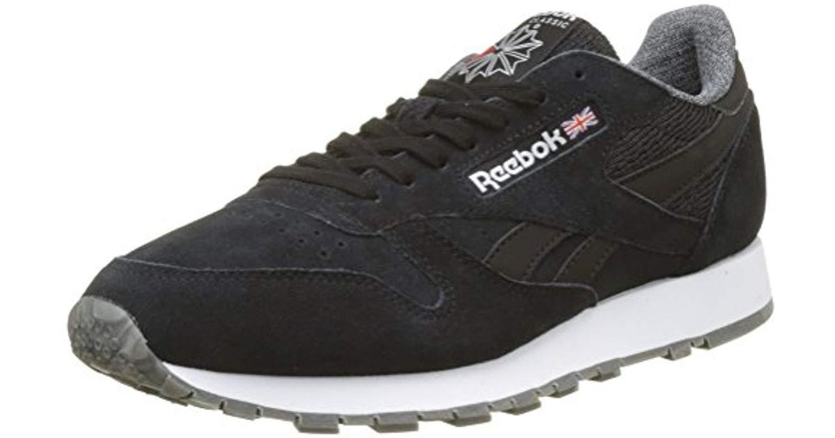 1b7bcc71245 Reebok  s Classic Leather Nm Trainers in Black for Men - Lyst