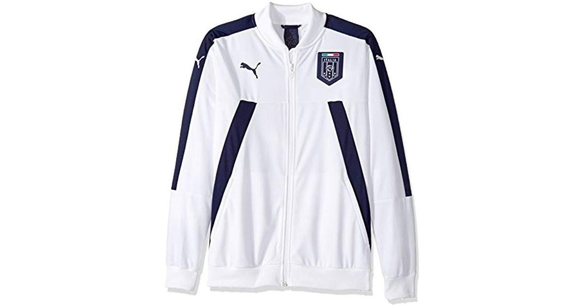 f469bcb277134 PUMA - White Figc Italia Stadium Track Jacket for Men - Lyst
