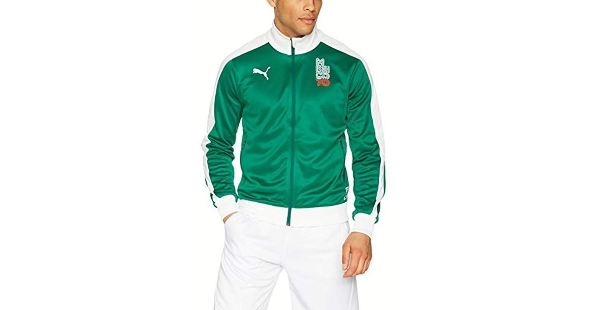 a96952f4e PUMA Forever Football T7 Track Jacket in Green for Men - Lyst