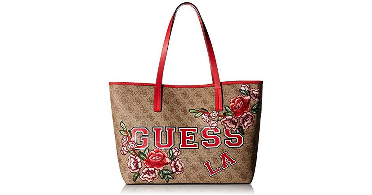 7226ee65afdac Lyst - Guess Vikky Tote Lfl in Red