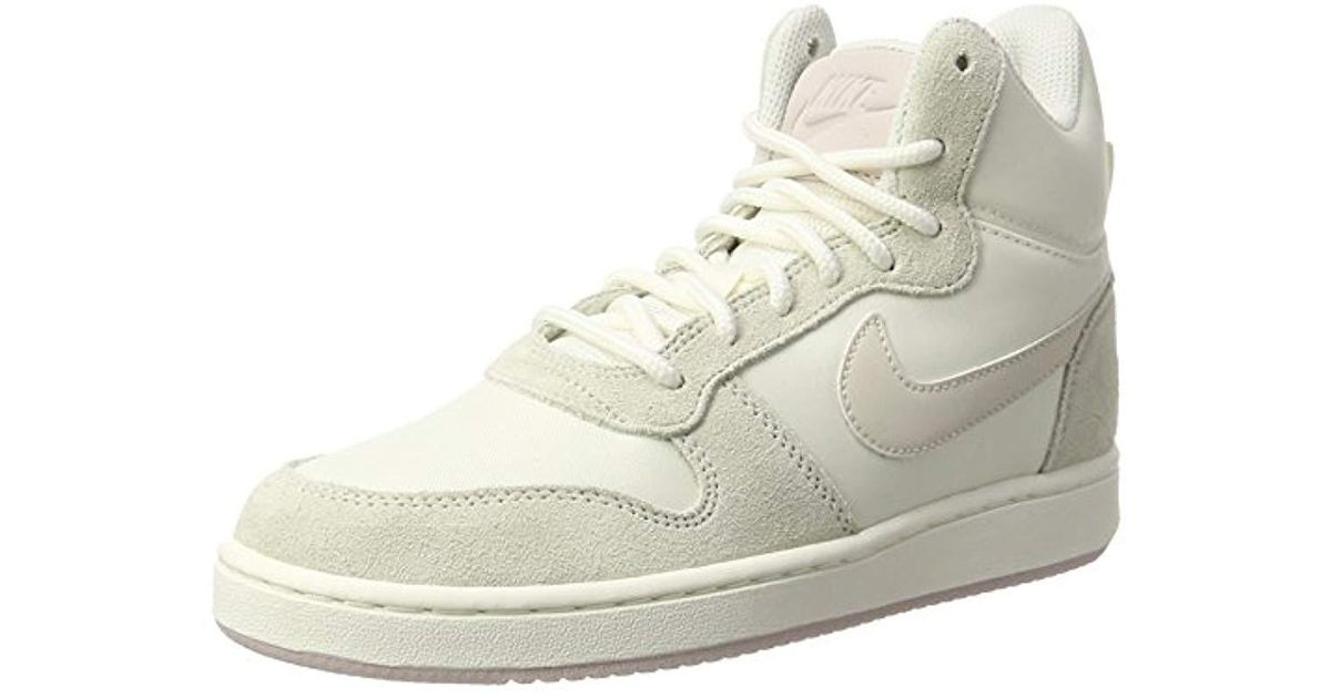 new product 640fb eff0e Nike Court Borough Mid Premium Low-top Sneakers, Beige, 7 Uk in Natural -  Save 37% - Lyst