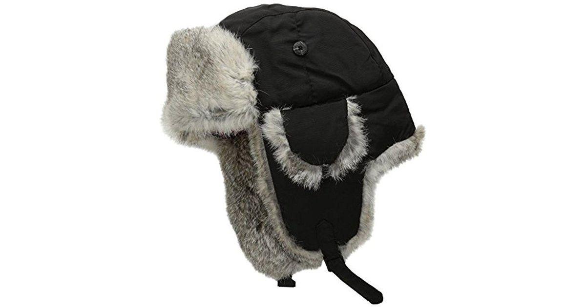 6a1e7866685 Lyst - Woolrich Supplex Wool Aviator Hat in Black for Men