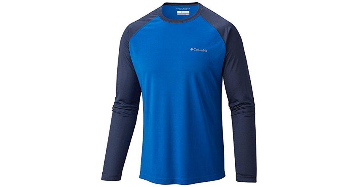 f1009577998 Lyst - Columbia Long Sleeve Sunset Stream Upf 50 Swim Tee in Blue for Men