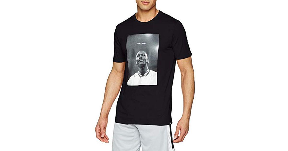 227315c41ec3 Nike M Jsw Tee Air Jordan Photo T-shirt in Black for Men - Lyst
