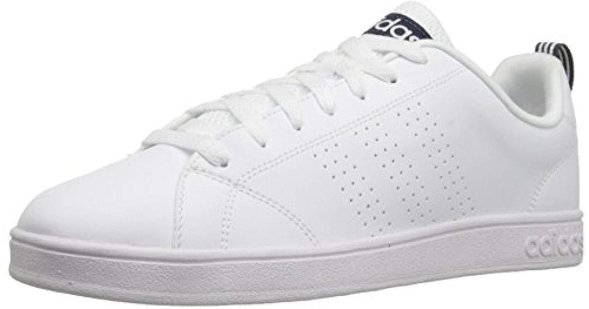 Adidas White Cloudfoam Advantage Clean Sneaker Tennis Shoes for men