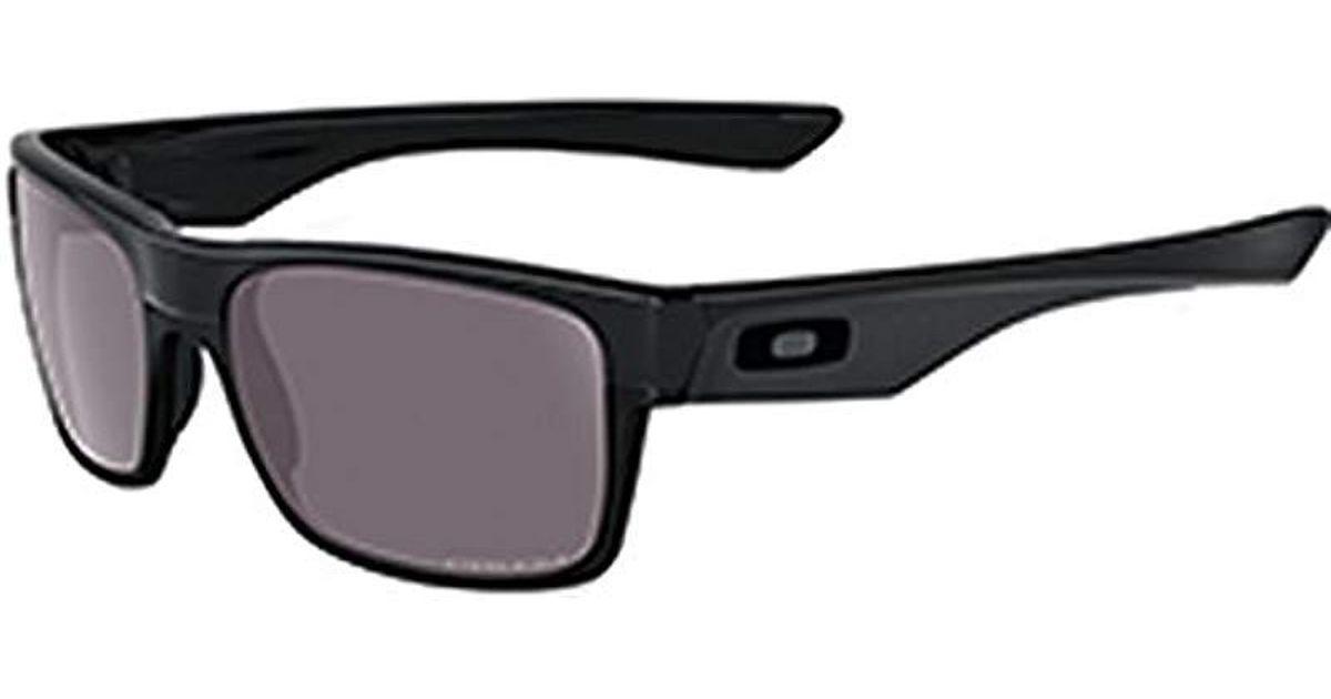 4116196571 Lyst - Oakley Twoface Oo9189-26 Polarized Rectangular Sunglasses in Black  for Men - Save 10%