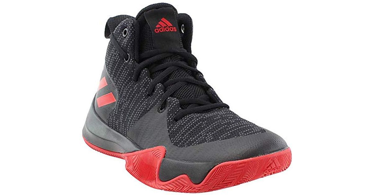 Black Adidas For Basketball Flash Explosive Men Shoe 5Ajc3Rq4L
