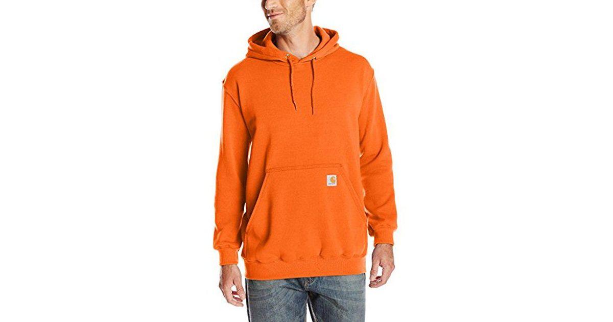29a4acb050 Lyst - Carhartt Midweight Original Fit Hooded Pullover Sweatshirt ... carhartt  pullover hoodie orange