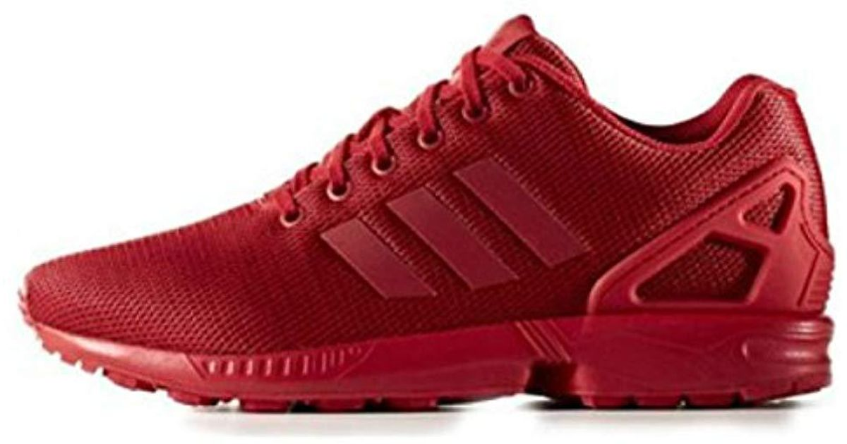 adidas Zx Flux Unisex Adult Low-top Sneakers in Red for Men - Lyst 948cba6dd9f2