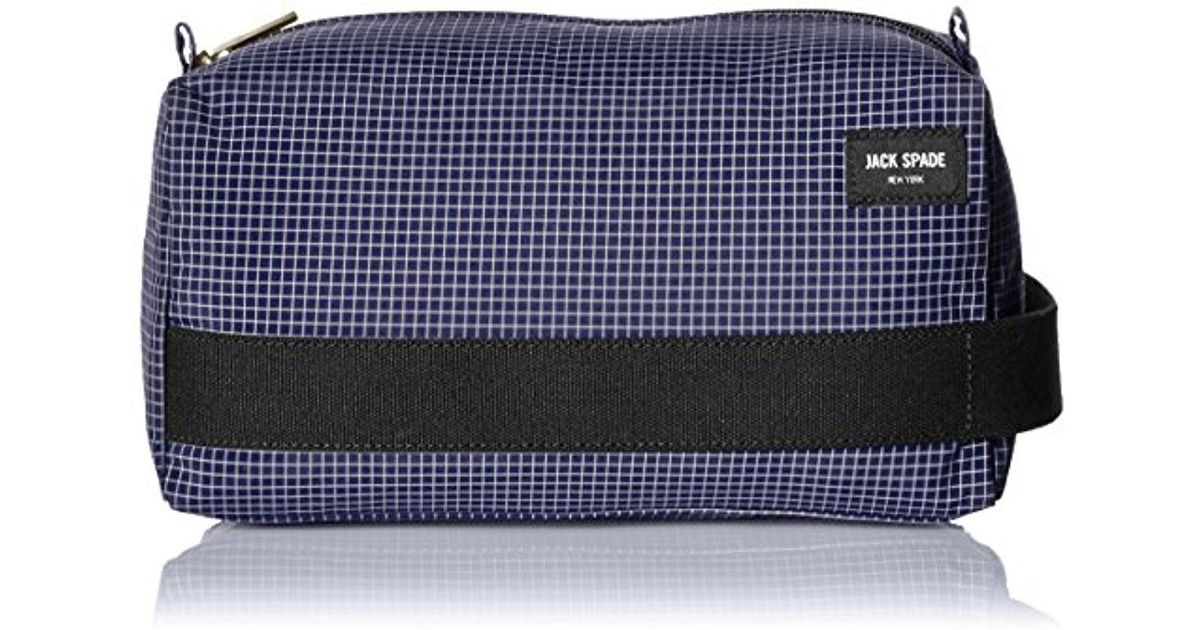 af723b2c5e Lyst - Jack Spade Packable Graph Check Toiletry Kit in Blue for Men