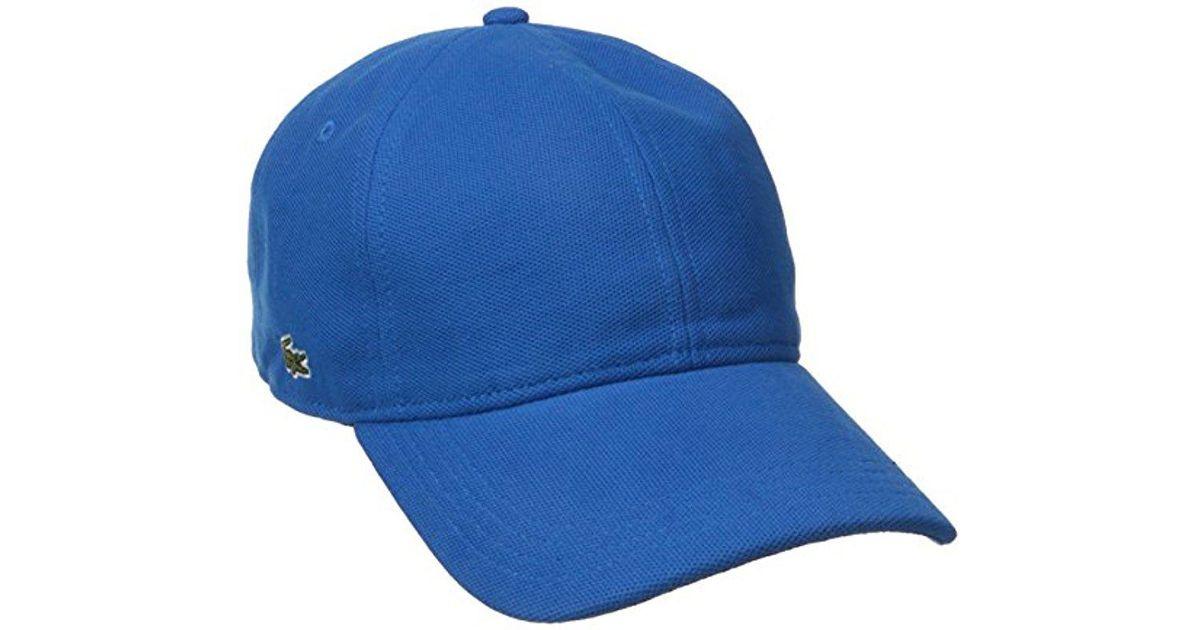 1ccf0236796 Lyst - Lacoste Pique Cotton Cap in Blue for Men
