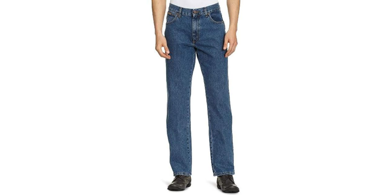 Wrangler Texas Contrast Jeans Straight Uomo