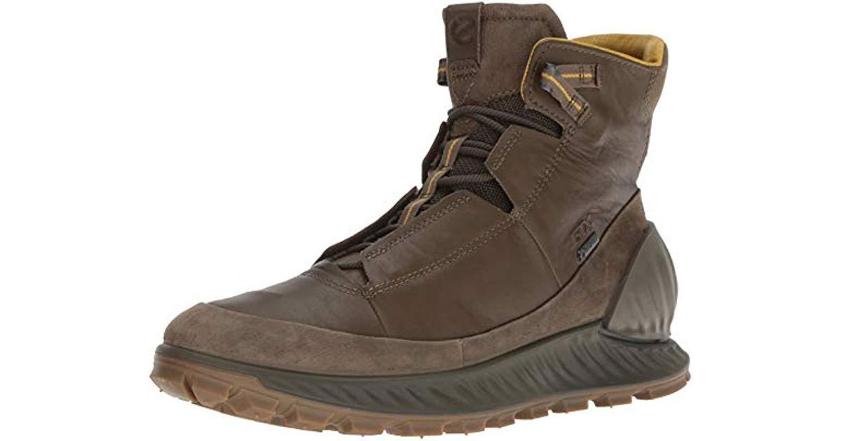 b82285f126975 Ecco Gray Exostrike Gore-tex Hiking Shoe for men