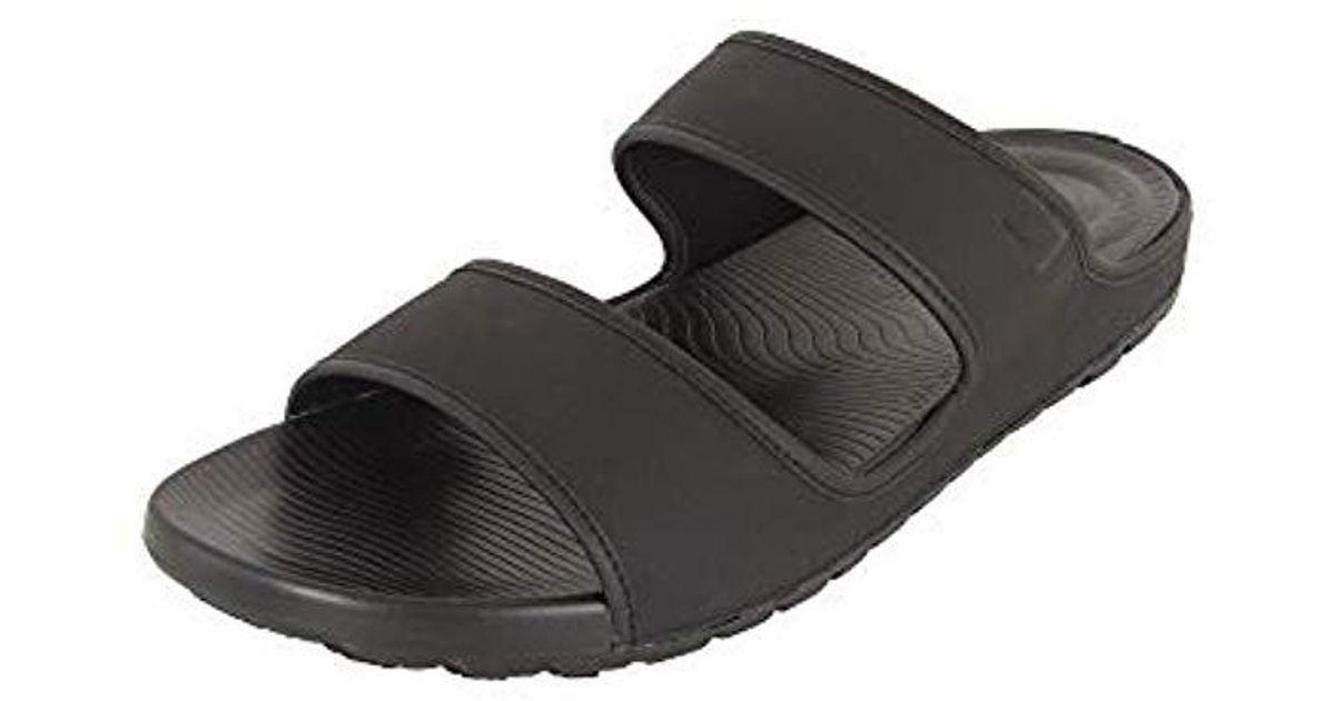 931b1c3b34f78 Fitflop Black Lido Tm Double Slide Sandals In Neoprene Flip Flops for men