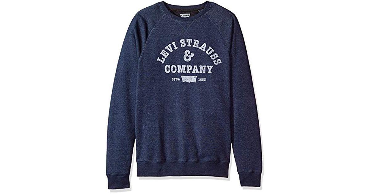 d184e528 Levi's Strand Vintage Crewneck Sweatshirt in Blue for Men - Lyst