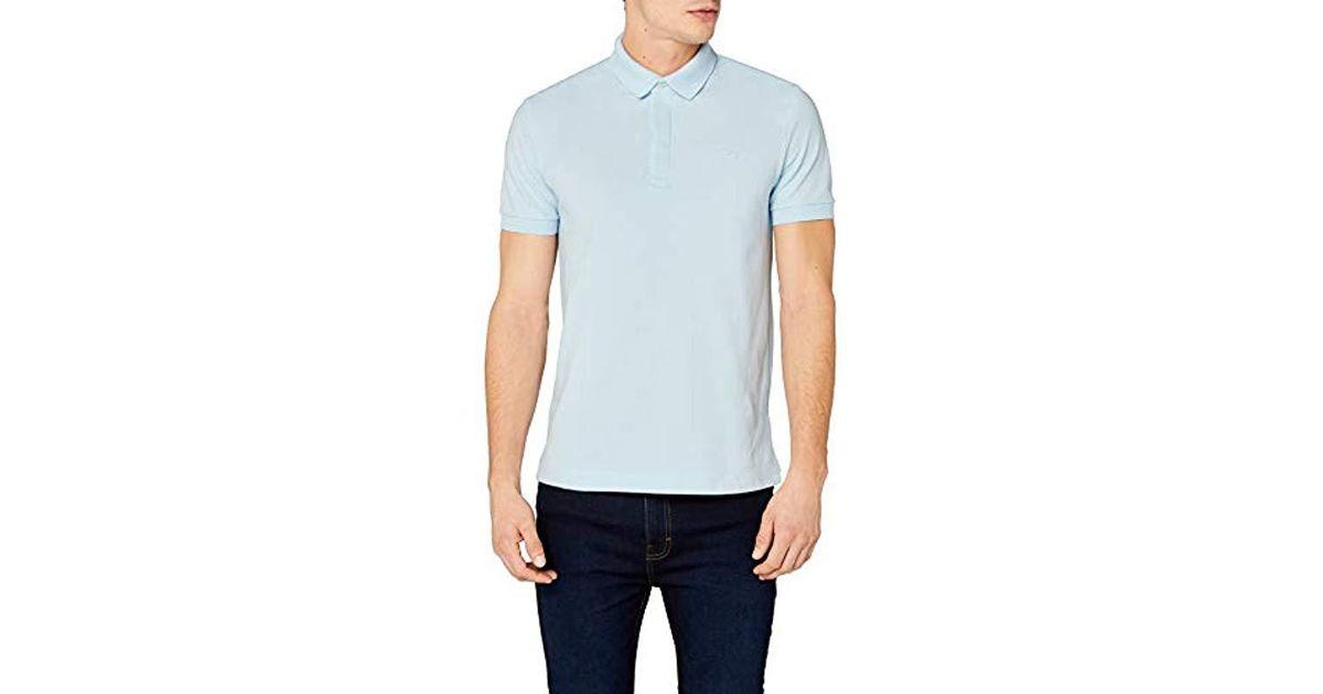 Lacoste Short Shirt Ph5522 For Blue Men Sleeve Polo 0wPnO8kX