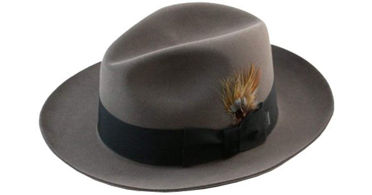 0fb68757cec ... aliexpress lyst stetson sttson temple royal deluxe fur felt hat for men  3ca15 eb8fd