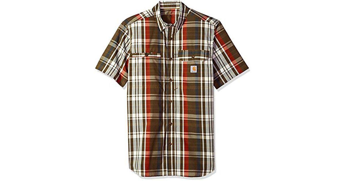 1f8584aa34 Carhartt Multicolor Force Ridgefield Plaid Short Sleeve Shirt for men