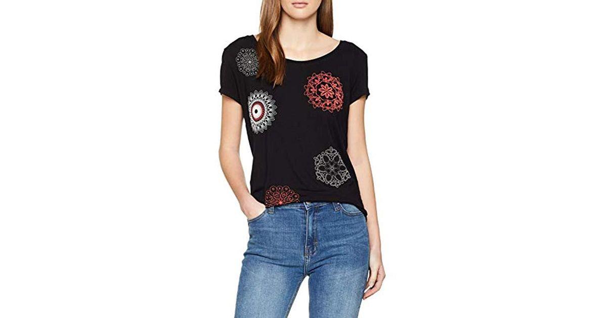 Desigual T-Shirt Short Sleeve Sonja Woman Black Donna
