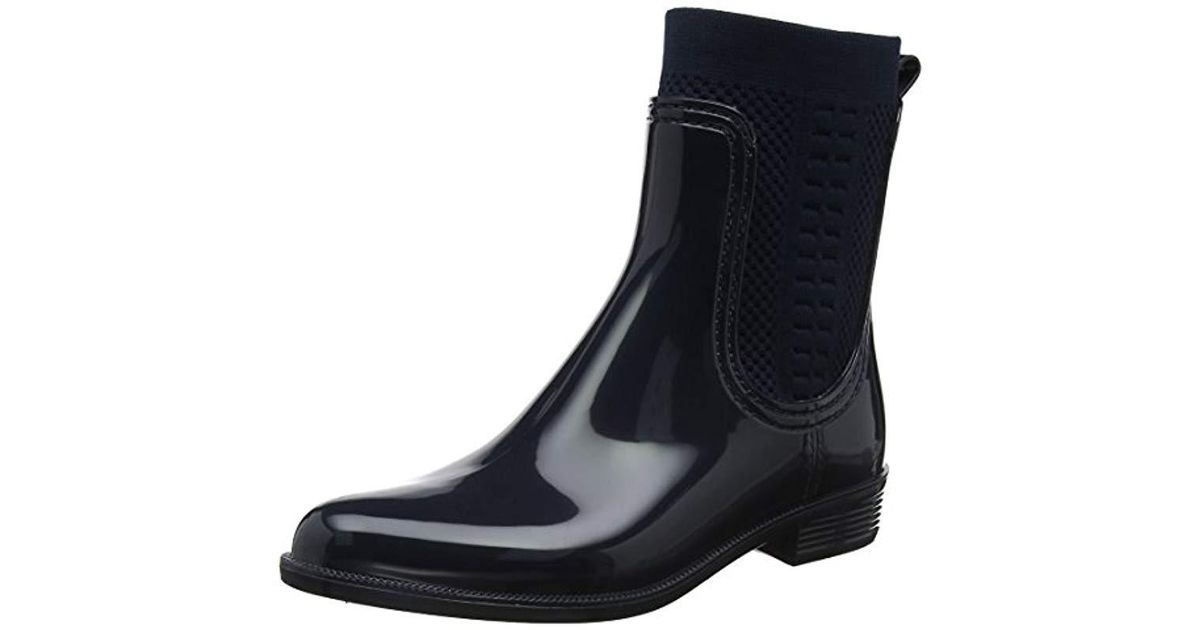 885359010fc99 Tommy Hilfiger  s Tommy Knit Rain Boot Wellington in Blue - Lyst