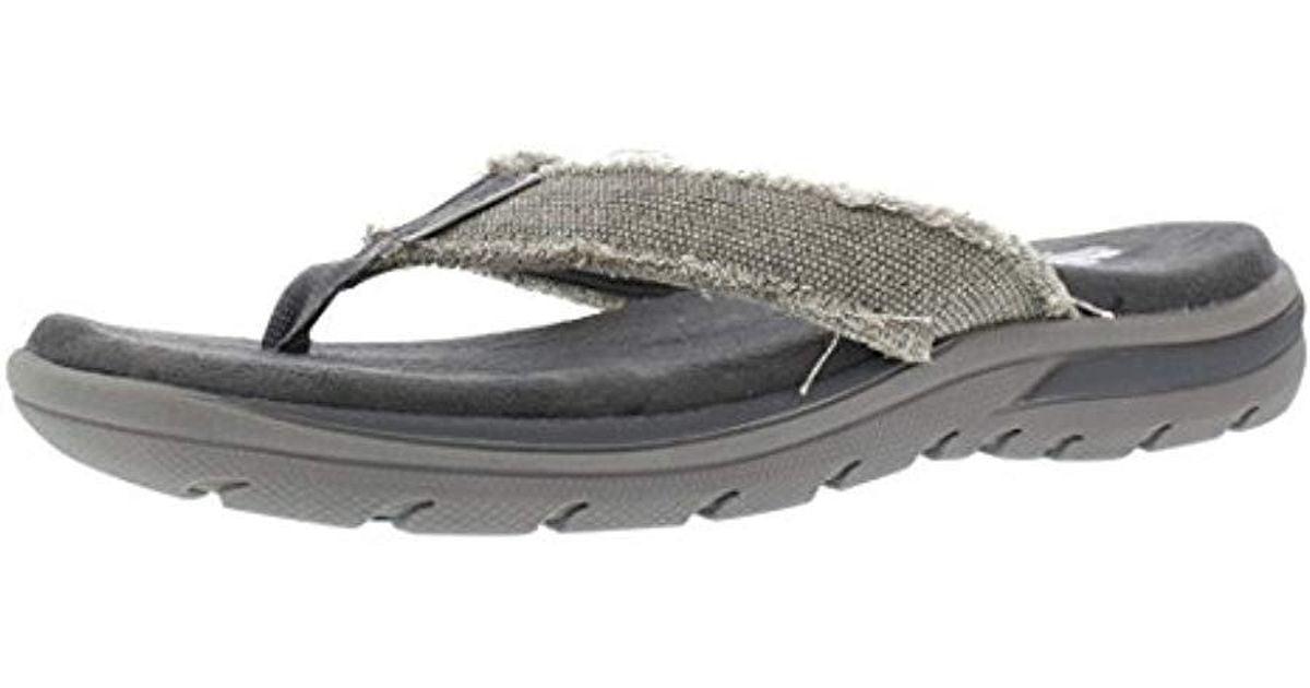 653077652c58 Lyst - Skechers Usa Bosnia Flip-flop in Gray for Men