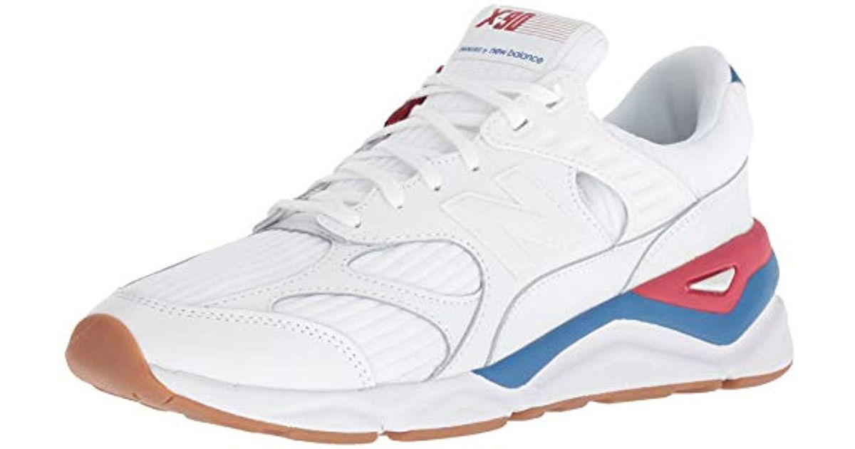 cbe7835655f06 New Balance White/blue/red X-90 Trainers for men