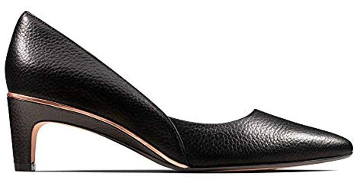Black Clarks Isidora Faye Womens Black leather ~ Andrew