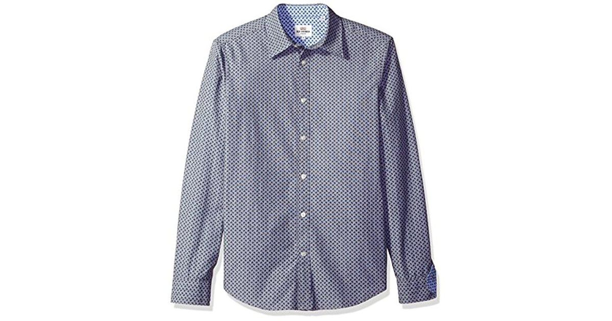 3a5ad5cec Lyst - Ben Sherman Ls Paisley Dot Print in Blue for Men