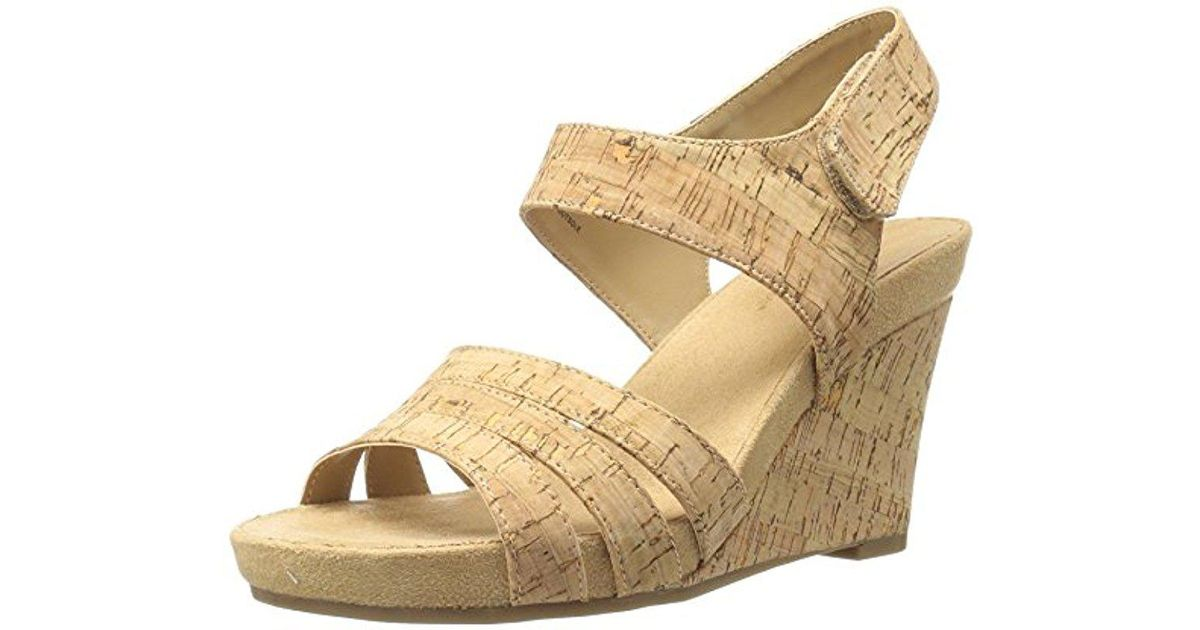 5fdfce6efc Aerosoles A2 Plush Day Wedge Sandal - Save 11% - Lyst