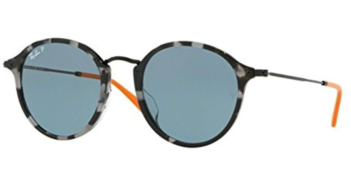 289987bcb7 Lyst - Ray-Ban 0rb2447f Polarized Iridium Round Sunglasses Grey Havana 49.2  Mm in Gray for Men - Save 23%