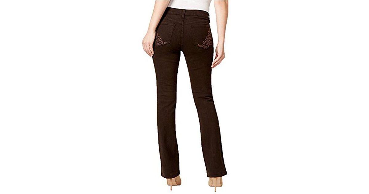 63e31b4dcb5 NYDJ Billie Mini Bootcut Jean in Brown - Lyst