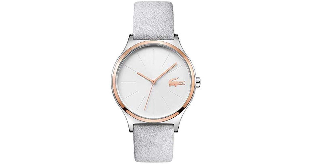 Quartz Montre Lacoste Mixte Lyst Bracelet Avec Analogique En White Cuir 2001013 n80vmNwO