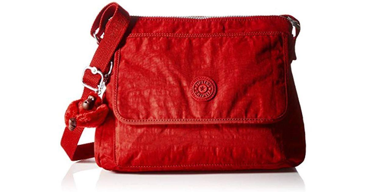 765531aa1 Lyst - Kipling Aisling Solid Crossbody Bag Convertible Cross Body in Red