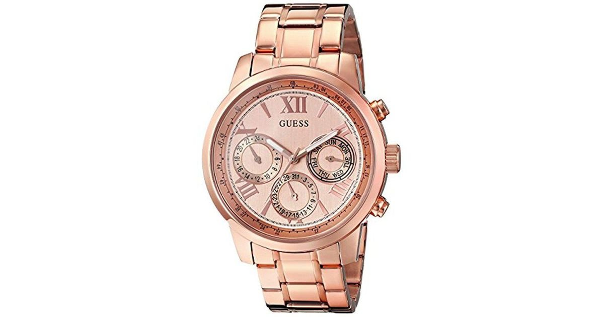 7ac593ddc8 Lyst - Guess Stainless Steel Classic Bracelet Watch - Save 2%