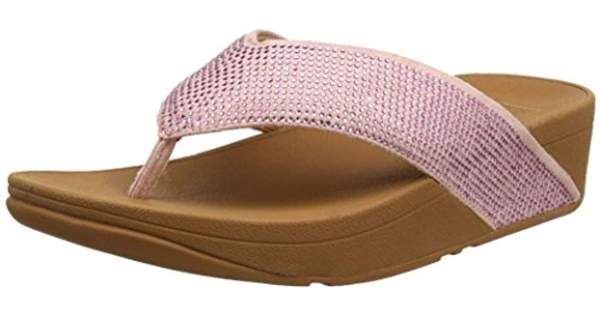 00d38982c Fitflop Ritzy Toe Thong Sandals in Pink - Lyst