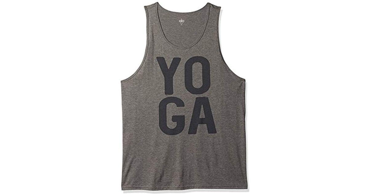 195042cbbb Alo Yoga - Gray Practice Tank Graphic Yoga Square for Men - Lyst