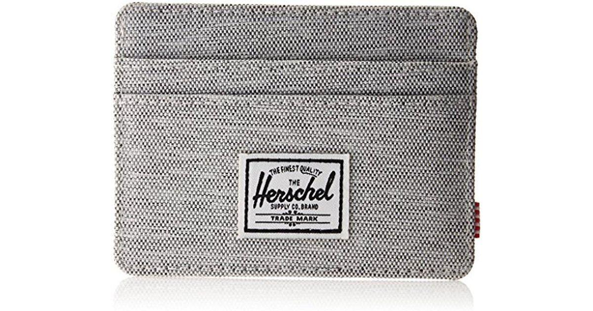 sports shoes db769 91d18 Herschel Supply Co. Gray Charlie Rfid Blocking Card Holder Wallet for men
