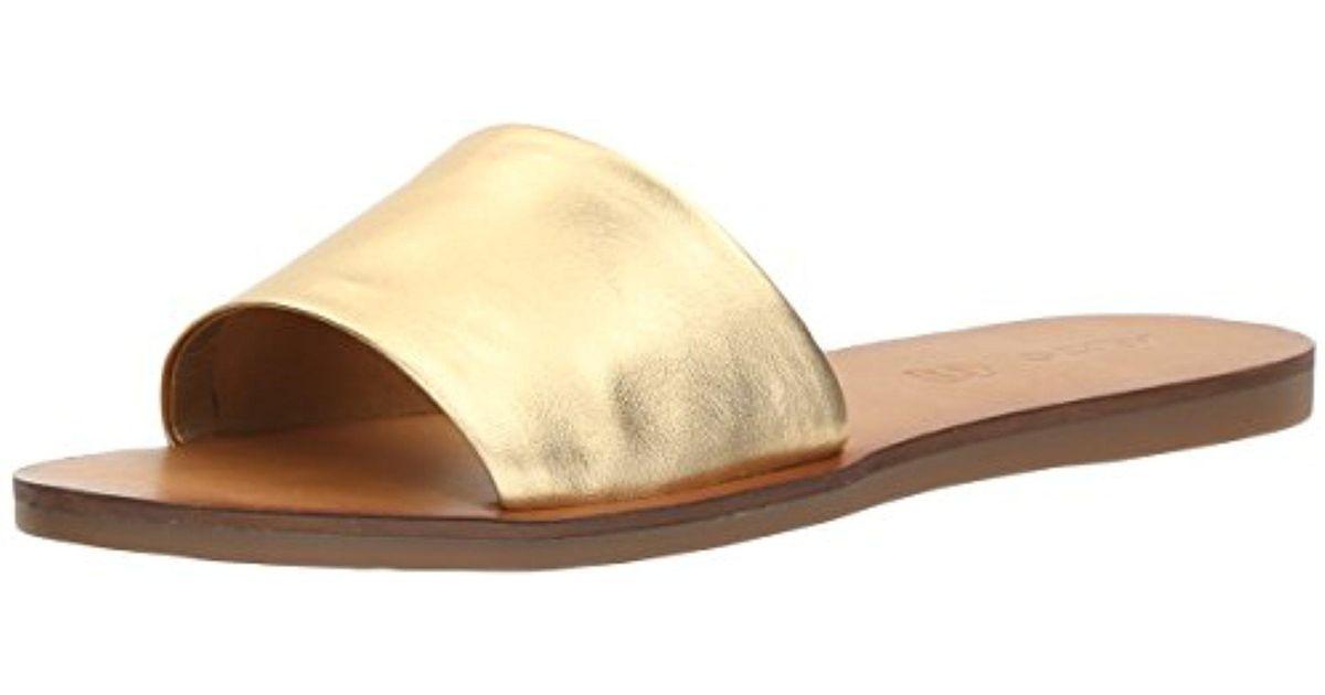 c3fdf2655ec2 Lyst - ALDO Brittny Slide Sandal in Metallic