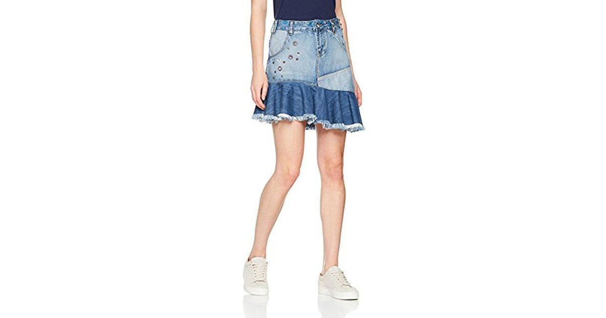 27d458bef0 Desigual 's Fal_eleni Skirt Blue in Blue - Save 49% - Lyst
