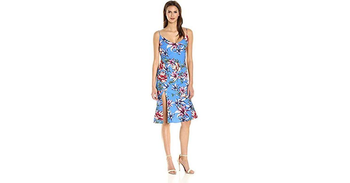 a4b8da35 Lyst - Black Halo Aloma Floral Slip Dress in Blue