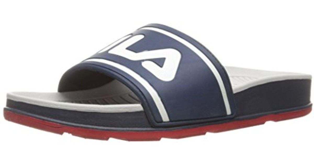 For Fila Athletic Multicolor Men Sandal Sleek Slide 7byf6g