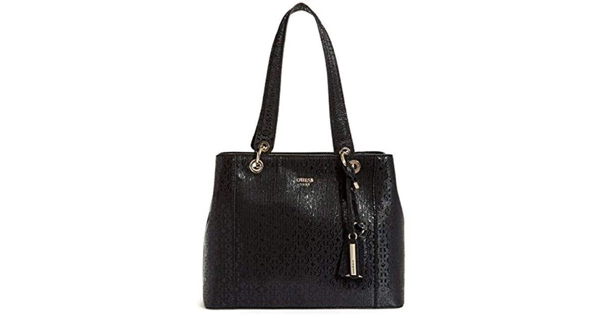 605f191da Guess Kamryn G-shine Shopper in Black - Save 20% - Lyst