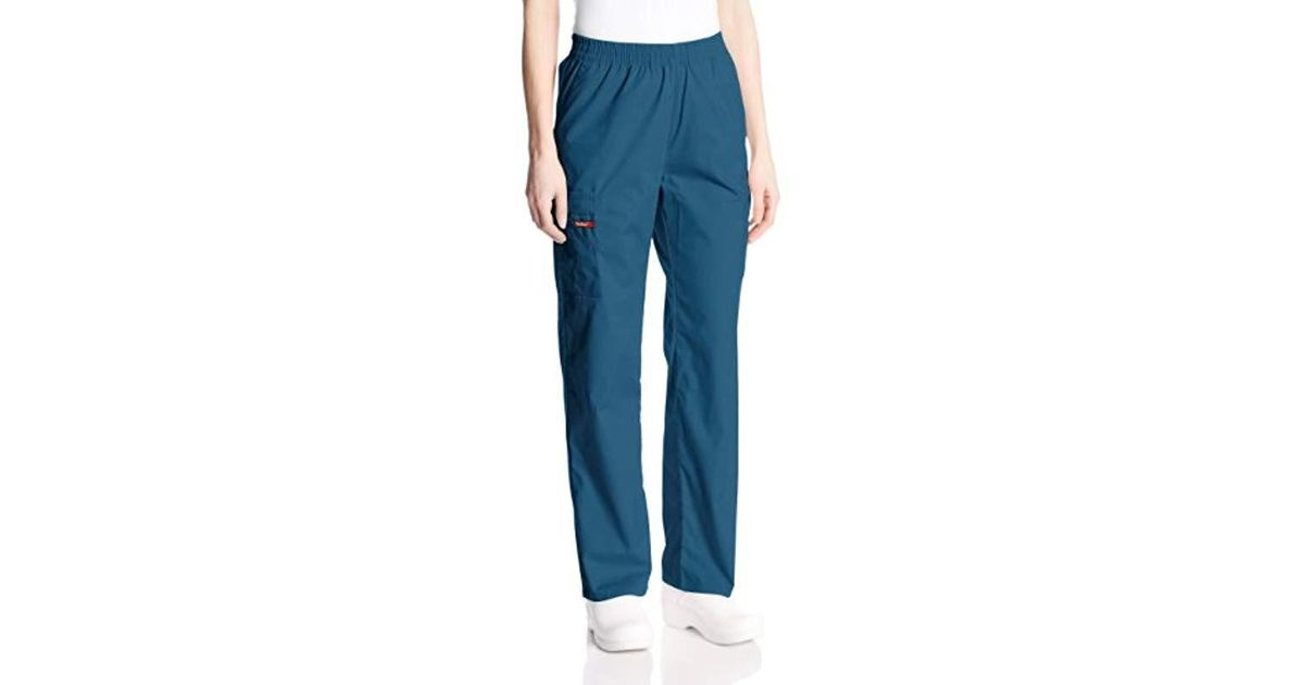 5176b7a70fb Dickies Signature Elastic Waist Scrubs Pant in Blue - Save 28% - Lyst