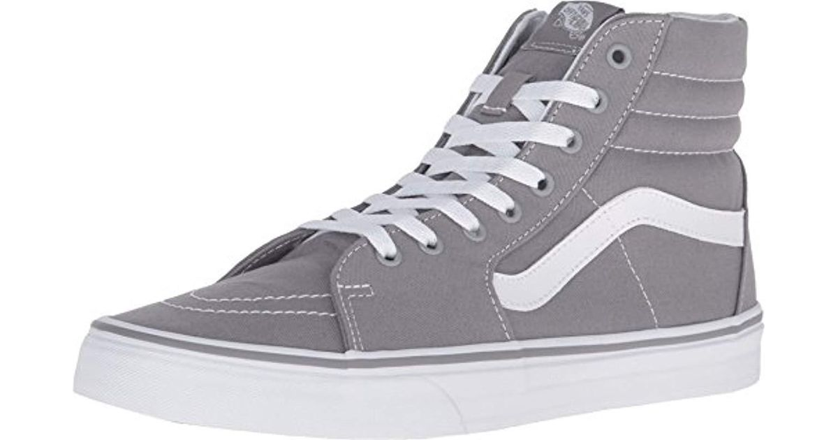 44ce23835efc Vans Sk8-hi Classic Unisex-adults Hi Top Lace-up Sneaker in Gray for Men -  Lyst
